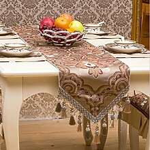 GAOYUHUA GY&H Europäische gehobene Hochzeit, Restaurant oder Bankett Tischläufer Esstisch Tuch Couchtisch Tuch TV Schrank Läufer Bett Handtücher,A,35*240cm