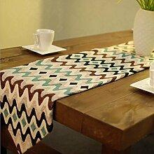 GAOYUHUA GY&H Farbe gestreiften Polyester-Faser Tisch Läufer Tisch, Couchtisch home Dekoration modernen Kunst Desktop-Läufer,blue,32*200cm