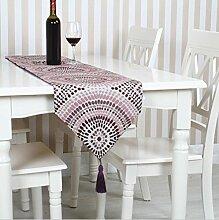 GAOYUHUA GY&H Geometrische abstrakte Tabelle Läufer Europa Vielfalt Esstisch Läufer Hause Dekoration Hause, Hotel, Hochzeit, Party,purple,32*220cm