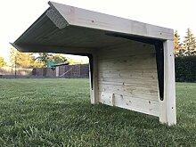 Garage Dach Carport Überdachung für Rasenroboter