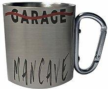 Garage Mancave Edelstahl Karabiner Reisebecher