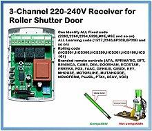 Garagenrolladen-Tür-Empfängerbox, 433,92 MHz.