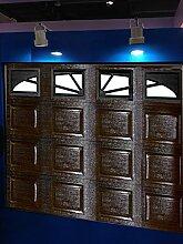 Garagentor,Sektionaltor 3040X2180 mm, braun Box