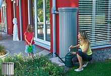 Garantia Säulentank 330 ltr. Steingrau inkl. Auslaufhahn