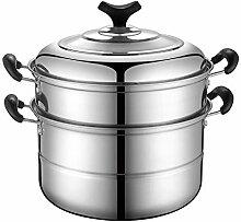 Gardampfkochtopf,Edelstahl Dampfgarer Food Steamer