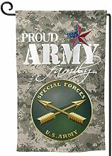 Garden Flags,Stolze Armee Familie Us Army Special