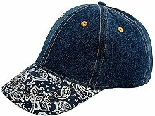 Garden Girl Schirmmütze Cap Mütze Kappe Hut Denim blau Garten Sonnenschutz Damen