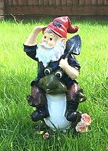 Garden Gnome Kleine Outdoor Statue Dekoration Terrasse TERRASSE Ornament Frosch (Nr. 4)