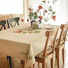 Garden Home Tischdecke/ bestickte Tischdecke/ Stickerei Tischdecke/Abdeckung Tuch/ quadratischen Tisch/ Kaffee stilvolle Tischdecke-A 200x150cm(79x59inch)