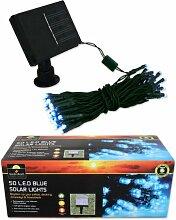 Garden Kraft 15440Benross 50LED Solar Lichterkette–Blau