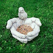 Garden Mile klassisch Stein Optik Vogel in Hand
