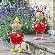 Gartenstecker Figur Garten Gartenfigur Stecker Erdmännchen mit Fernglas