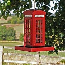 Garden Mile Rote Telefonzelle Garten Vogel