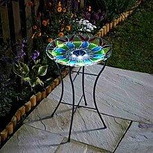 garden mile® Solarbetriebene Vogeltränke mit