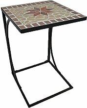 Garden Pleasure Gartentisch Beistelltisch, Mosaik,