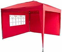Garden Royal Pavillon faltbar 3x3m Rot komplett