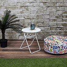 Garden Spirit - Gartentisch in Weiß - (H)47 x Ø