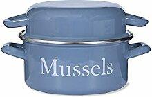 Garden Trading Muschel Topf Emaille-Dorset blau