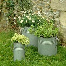 Garden Trading Pflanzgefäß-Set, verzinkter