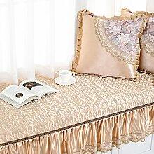 Garden window mat/fabric bay fenster dämpfung/erker-decke/sofa-kissen/fensterbank-pad/tatami balkon mat-D 90x140cm(35x55inch)