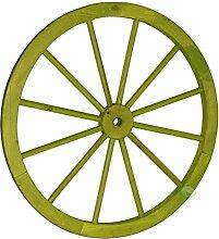 Gardenised QI003618.S Wagenrad aus Holz, Grün