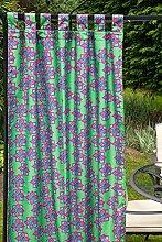 """gardenista Stempel grün Design wasserfest Außenbereich Gartenlaube Öse Vorhang Panel - 55 """" x 120"""