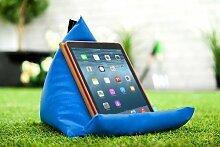 Gardenista Wasserfest Blau iPad Tablet Pyramide Sitzsack Ständer Kissen