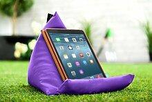 Gardenista Wasserfest Lila iPad Tablet Pyramide Sitzsack Ständer Kissen