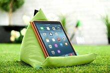 Gardenista Wasserfest Limette iPad Tablet Pyramide Sitzsack Ständer Kissen