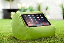 Gardenista Wasserfest Limette iPad Tablet Rund Sitzsack Ständer Kissen