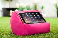 Gardenista Wasserfest Pink iPad Tablet Rund Sitzsack Ständer Kissen