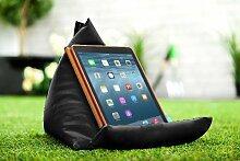 Gardenista Wasserfest Schwarz iPad Tablet Pyramide Sitzsack Ständer Kissen