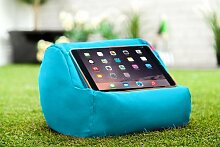 Gardenista Wasserfest Türkis iPad Tablet Rund Sitzsack Ständer Kissen