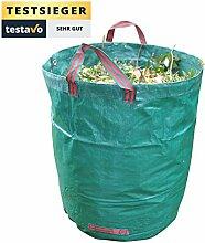 GardenTastico® | Gartensack mit extra 272L Fassungsvermögen und einer Stärke von 150g/m² | extrem wasserabweisend und reißfest - Perfekt geeignet für Garten & Outdoor