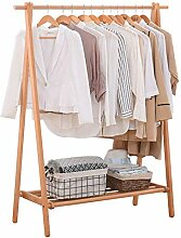 Garderobe aus HolzAnpassbare Kleiderstange