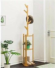Garderobe Bambus freistehende Baumregale