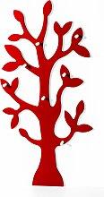 Garderobe Baum, rot (80/160/13 cm)