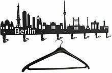 Garderobe Berlin Skyline - Wandgarderobe,