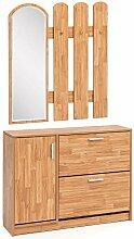Garderobe Buche 90 x 172 x 24 cm Holz Design