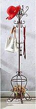 Garderobe Coat Racks Eisen Einfache Montage Kleiderbügel Landing Creative Racks ( Farbe : Braun )