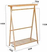Garderobe Coatrack Bambus Boden Racks Einfache Kleidung Kleiderbügel Creative Coatrack Schlafzimmer ( größe : 80cm )