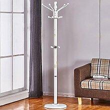Garderobe Eisen Mantel Rack Boden Schlafzimmer Kleiderbügel einfache moderne Home Rack ( Farbe : Weiß )