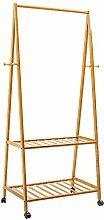 Garderobe European Style Floor Standing Coat Rack Baum Massiv Holz Holz 161cm Moving Hanger ( größe : 60 )