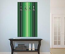 Garderobe Frisches Grün Muster Wandgarderobe | Hochformat - 55x100 (BxH) | Dekorfolie