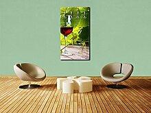 Garderobe Glas mit Rotwein im Weinberg Wandgarderobe M0830   Hochformat - 55x100 (BxH)   Dekorfolie