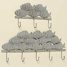Garderobe/Haken Fisch L35 grau Eisen