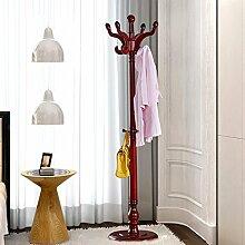 Garderobe Hut Rack Solid Holz hängen Kleiderbügel Schlafzimmer Einfache Hut Rack ( Farbe : F )
