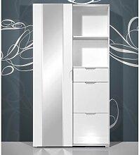 Garderobe in Hochglanz Weiß kompakt