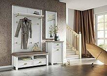 Garderobe in weiß mit Appl. in San Remo-Eiche-NB,