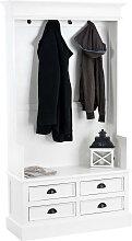 Garderobe Just-weiß